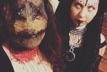 Halloween / Voodoo doll and voodoo priestess, DIY wig and mascara