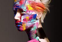 *~~* Nuancier surréaliste *~~* / Palette de couleurs sur fond de photographie. Exprimer le côté créatif à travers des valeurs positives pour se détacher du réel contexte et annoncer l'existence d'un mouvement d'illusion.