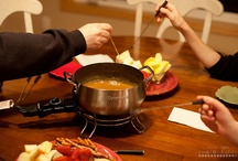 fondue party / If you love fondue (and who doesn't?) this is for you.  Sweet fondue, savory fondue and everything in between.  Get out the cheese and chocolate and skewer up some veggies and bread, this is going to be good!