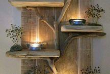 lumini e legno