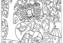 Páginas para colorir - Karla Gerard. / Desenhos para pintar de Karla Gerard.