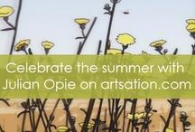 S U M M E R TIME - Julian Opie / brand new 3D artworks by Julian Opie on artsation.com http://artsation.com/en/shop/julian-opie