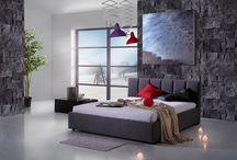 Łóżka tapicerowne do sypialni / Piękne i funkcjonalne łóżka, które stanowią ozdobę sypialni.