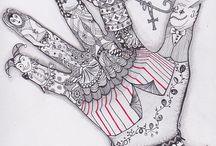 zentangles - hands