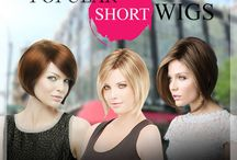Popular Short Wigs : A-line Bob Hairstyle Wigs - Never be out of Fashion / A-line Bob Hairstyle Wigs - Never be out of Fashion