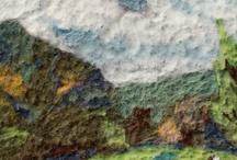 Needle felting wool painting
