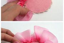 textil virág