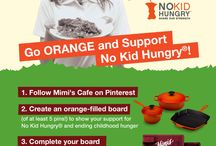 GO ORANGE and Support No Kid Hungry! / This September, Mimi's Cafe will be supporting Share Our Strength's No Kid Hungry campaign, a national non-profit organization working to end childhood hunger in the United States. Play Mimi's Facebook Fan Challenge and learn about hunger awareness and earn great prizes like Cast Iron sets from Le Creuset®, Mimi's gift cards and more on Facebook®. Visit www.facebook.com/mimiscafe for more information.  / by Mimi's Cafe
