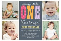 First Birthday Invitations / Our favorite personalized First Birthday Invitations for boys & girls from top custom printing sites like Tiny Prints, Minted, & Shutterfly. Use a coupon for up to 30% off or free shipping!