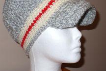Crochet Monkey Sock Adult Newsboy Hat