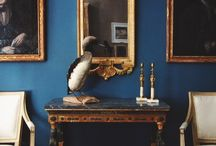 Blue, Wood & Gold Room