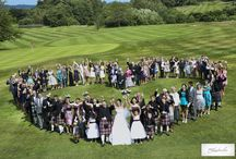 fun /group wedding photos / Amazing heart shaped group photo