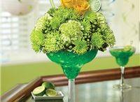 Happy Hour Arrangements / Margarita glass flower arrangements. http://www.conroysflowersredondobeach.com/store/occasions/Happy-Hour/