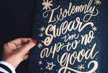 For The Love of Type : Hand lettering