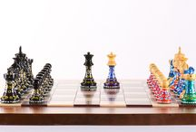 Painted Chess Sets by Sydney Gruber / Sydney Gruber paints beautiful designs on Chess Sets