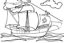Coloriages de bateaux / Différents coloriages de bateaux, allant de la légende du Titanic aux navires Viking.