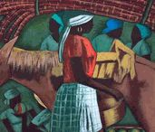 """Dambreville, Claude  / Haitian master painter, Claude Dambreville (1934) is from Port-au-Prince, Haiti. He came from the Centre d'Art and the ABC School of Paris. """" Dambreville's work is essentially based on the play of shadow and light"""" (Peintres Haitiens). - See more at: http://www.naderhaitianart.com/clickhere2.html#sthash.0boiPuic.dpuf"""