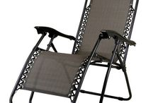 Grey Garden Reclining Outdoor Chair Patio Furniture Camping Sun Lounger Foldable