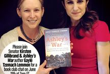OTS Book Club: Ashley's War / On June 11th, Senator Kirsten Gillibrand will hold a live chat with Ashley's War author Gayle Tzemach Lemmon to discuss this extraordinary story of one of the first all female cultural support teams to enable our Special Ops units on the ground in Afghanistan. Get details at offthesidelines.org/ashleyswar / by OffThe Sidelines