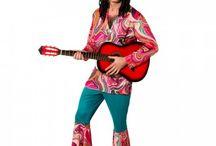Hippie Kostüme, Back to 70s / Damen, Herren und Kinder Kostüme im Style der 70er Jahre
