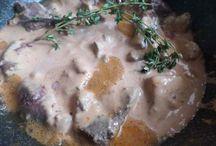 печень в соусе (горчица-сметана)