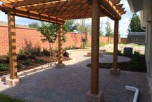 Looking for some ideas for your back yard??? / How about a nice Pergola and a fire pit for entertaining and relaxing.