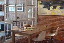 Brick, Hardwood and Room Dividers / Finding the right room divider in a loft or apartment.