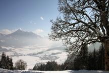 Flachau im Winter / Flachau - valley and mountains, landscape, ... Flachau - Berge und Tal, Landschaft