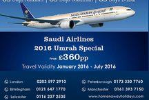Saudi Airline flight deal for Umrah 2016
