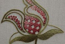 Crewel and Wool embroidery