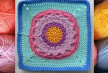 Crochet afghans: CAL (general) mixed squares