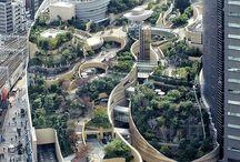 parkok és városok