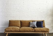Couch With Wooden Frame