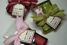 """Treat, Gift Card and Money Holders / (ALLOWANCE NEEDED WHEN MAKING HERSHEY NUGGET BOXES IS 1 1/2"""" LONG BY 1""""WIDE BY 5/8"""" HIGH) / by Debi Lee"""