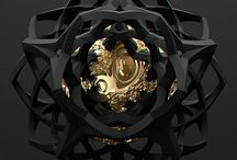 Black and Gold / Black and Gold 3D Art