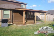 Patio Covers / Here are just a few samples of patio covers built by Diamond Decks, San Antonio.