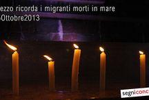 Arezzo ricorda i migranti morti in mare / 05 Ottobre 2013