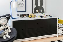 Black and White Decor / Black and white kids and nursery decor