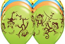Monkey Party Ideas / Balloons, Décor Kits and more for a perfect Monkey party they'll go bananas over!