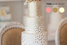 White-pink-gold wedding sweets