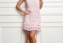vestido de croche rosa