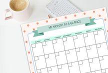 Home Organisation: Meal Planning & Calendar