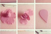 polimer clay flowers