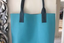 Hand Sewn Leather Tote bags / We are building a range of hand Sewn products and these are our stunning Tote bags.  Available made to order in different colours