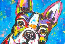 Franse bulldog tekenen