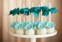 turquoise dessert