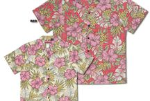 4X, 5X & 6X size Aloha shirts / Large size mens aloha shirts. Sizes to 6X in rayon. Sizes to 5X in cotton. All made in Hawaii and Big & Tall Solid Color Weekender Shirts