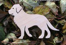 chien en bois