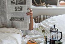 Breakfast•coffee•bed
