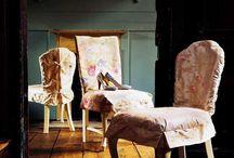 Vintage interiors, faded look